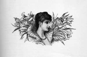 Woman & lillies