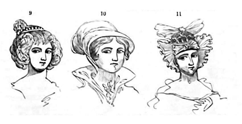 Prince Rupert's mother's hair, Lady Jane Grey's attire , female head-dress in 1688