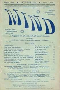 Mind, November 1900