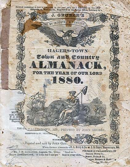 J. Gruber's Hagers-town Town and Country Almanack 1880