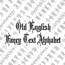 Victorian Old English Fancy Text Ornamental Alphabet Vector Clipart  | Vintage Ornamental Uppercase & Lowercase Letters, Calligraphy SVG PNG