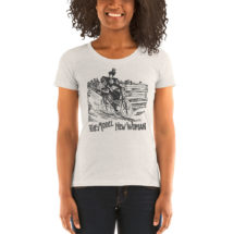 Feminist T-Shirt: Model New Woman | Victorian Lady Cyclist wearing Bloomers Ladies Shirt, Feminist Gift, Bicycle, Cyclist Gift
