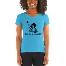 Toasting T-Shirt: Fast Life & Dissipation Ladies Shirt | 1920s Drinking Design, Celebration, Alcohol, Toast, Flapper, Bartender Gift