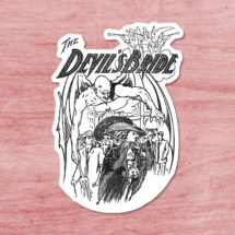 The Devil's Bride Sticker | Edwardian Satan | Retro Woman Menaced by Demon Satanic Vinyl Decal, Stocking Stuffer Small Gift