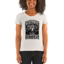 Quackery T-Shirt: Electric Bitters Pseudoscience Ladies Shirt, Victorian Medical Advertising, Patent Medicine, Junk Science Gift Doctor Gift