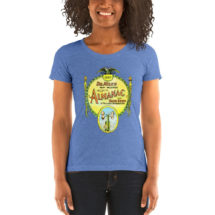 Retro T-Shirt: Dr. Miles New Weather Almanac Ladies Shirt, 1920s, Book Cover, Forecaster Gift