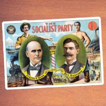 Socialist Party Kiss-Cut Large Sticker | Eugene V. Debs, Ben Hanford | Retro Socialism, Stocking Stuffer Small Gift