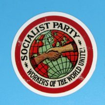 Large Socialist Party Sticker | Workers of the World Unite! | Retro Socialism for Laptop Water Bottle Etc, Stocking Stuffer Gift