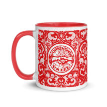 Leftist Mug: Workingmen Unite! Red Interior | Edwardian Socialism, Retro Socialist Gift, Leftist Communist Anti-Capitalist Pro-Labor Ceramic
