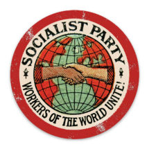 Socialist Party Magnet | Workers of the World Unite! Distressed Look Round 3 inch Retro Leftist Magnet Anti-Capitalist Socialism, Small Gift