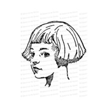 Vintage 1920s Girl with Bob Haircut | Girl with Bobbed Hair | Antique Children Vector Clipart Instant Download SVG PNG JPG