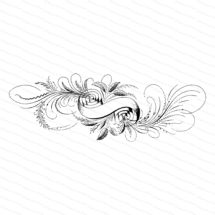 Fancy Victorian Blank Banner with Leaves, Flourishes, and Flower Vector Clip Art   Antique Banner   Digital Instant Download SVG PNG JPG