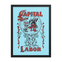 Workers Poster: Capital and Labor | Communist Poster, Socialist Poster Socialism Leftist Retro Communism, Anti-Capitalist Wall Art