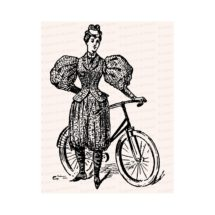 Victorian Lady Cyclist in Bloomers   Woman in Rational Dress / Pants with Bicycle   Instant Download Feminist Vector Clip Art SVG PNG JPG