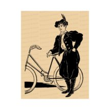 Victorian Lady Cyclist in Bloomers | Woman in Rational Dress / Pants with Bicycle | Instant Download Feminist Vector Clipart SVG PNG JPG