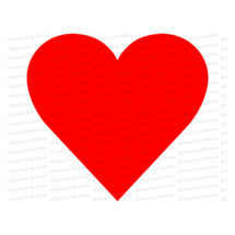 Basic Simple Red Heart | Valentine's Day Vector Clipart | Romantic Wedding Love SVG PNG JPG