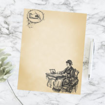 Printable Victorian Ladies' Notepaper  | Vintage Letter Writing Paper, Planner Insert Journal Page Stationery Scrapbook A4 & 8.5 x 11 Letter