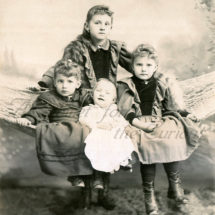 Antique Photo DOWNLOAD | Adorable Victorian Children in Hammock | Little Girls Baby Infant photograph picture digital png jpg
