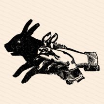 Vintage Victorian Shadow Puppet   1890s Rabbit Shadow Vector Clipart   Bunny, Hare Hand Shadow Puppetry, Puppets   Download SVG PNG JPG