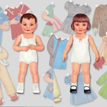 Bobby and Joan Printable Paper Dolls   Retro 1930s Style Paper Doll   Boy and Girl Instant Digital Download Kid's Activity PDF