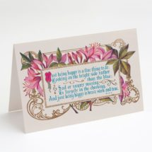 """Printable Good Cheer Azalea 5×7"""" A7 Note Card   Blank Card Just Being Happy is a Fine Thing to Do Azaleas Flowers Foral  Happiness"""